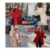 皮草模特拍照街拍韩风服装拍摄拼单颗粒绒羊羔毛模特拍照淘宝摄影